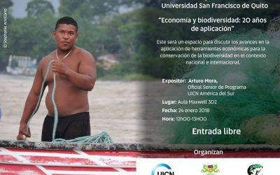 """UICN-Sur: Coloquio """"Economía y Biodiversidad: 20 años de aplicación"""":"""