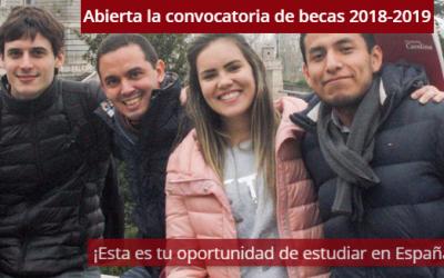 Fundación Carolina: Convocatoria de becas 2018-2019