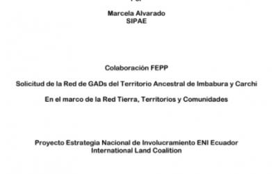 """SIPAE: """"Análisis de la estructura de la tenencia de la tierra en el cantón  Mira a partir de la base de datos catastral"""""""