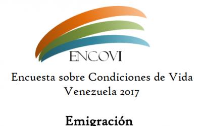 Universidad Católica Andrés Bello: Encuesta sobre Condiciones de Vida Venezuela 2017, Capítulo Migración