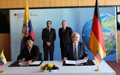 Ecuador y Alemania firman acuerdo de cooperación para el desarrollo por un monto 48.9 millones de euros