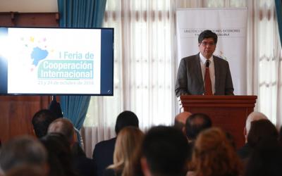 Canciller inaugura la 'I Feria de Cooperación Internacional: Hallazgos y Perspectivas'