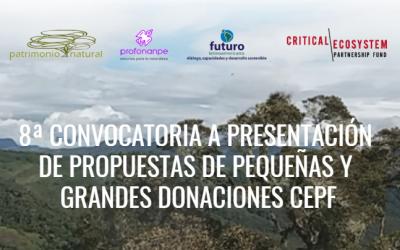 Financiamiento de iniciativas de conservación en el Hotspot de Biodiversidad de los Andes Tropicales en Colombia, Ecuador, Perú, Bolivia y Multipaís