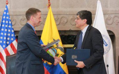 Ecuador abre la puerta a la cooperación no reembolsable de Estados Unidos