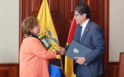 Cancillería y la agencia de cooperación alemana GIZ implementan proyecto de apoyo a comunidades de acogida de refugiados y migrantes en la frontera Ecuador-Colombia