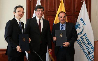 Ecuador recibe donación japonesa para la adquisición de alimentos destinados a migrantes venezolanos.