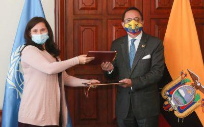 Cancillería y Naciones Unidas suscribieron nuevo marco jurídico de relacionamiento entre el sistema de Naciones Unidas en Ecuador y el Gobierno Nacional